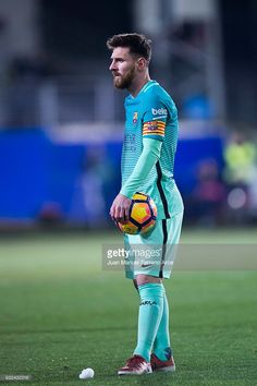 Lionel Messi of FC Barcelona reacts during the La Liga match between SD Eibar and FC Barcelona at Ipurua Municipal Stadium on January 22, 2017 in Eibar, Spain.