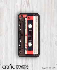 My favorite thing about this case is that it looks exactly like a cassette tape. The designer used the exact layout and color scheme you would find on a real tape. I also enjoy the reddish area repeated surrounding the camera. This gives the look that the camera lens is part of the design instead of once again just being an obstacle in the layout.