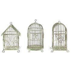 Creative Coop 5H Mini Metal Wire Hanging Bird Cages  Set of Three by Creative Coop -- You can find out more details at the link of the image.Note:It is affiliate link to Amazon.