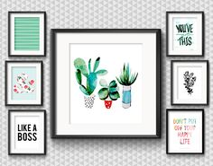 Colorful Inspiration for an Entrepreneur Mom • Clean & Bright & Inspirational Gallery Wall for an Office • Little Gold Pixel