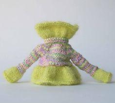 Grün lila Blythe Pullover Variegates Puppe Pullover Strickpullover Puppe Pullover Blythe Mohair viele Farben Blythe outfit lila Kleider