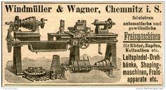 Original-Werbung/ Anzeige 1903 - FRAISMASCHINEN / WINDMÜLLER & WAGNER CHEMNITZ- ca.100 x 55 mm