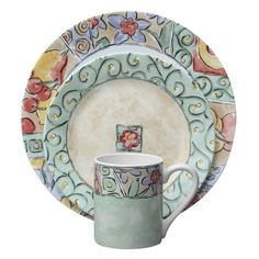 The intricate design on Corelle Impressions Watercolors 16 Piece Dinnerware Set looks luxurious and adds a touch of sophistication to any room. This dinnerware is made from vitrelle glass, which is tempered