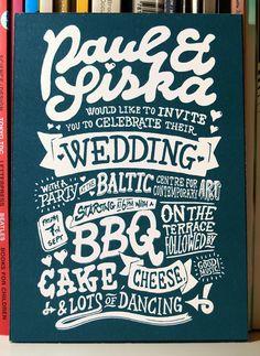 Wedding Invitation by Paul Robson, via Behance