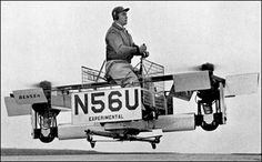 The Bensen Propcopter was an unconventional VTOL aircraft developed by Igor Bensen in the United States in the late The pilot sat astride a beam that had an engine mounted at either end of it, each driving a rotor to provide lift Chopper Plane, Flying Car, Aircraft Design, Rc Model, Antique Photos, Gliders, Fighter Jets, Transportation, Aviation
