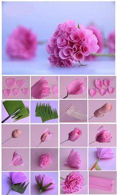flor origami claveles