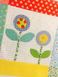 Bloom Sew Along Block 5 featuring cute vintage inspired Penny Rose Fabrics #ilovepennyrose