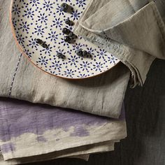 Hand-Painted Linen Tablecloth available at Terrain!