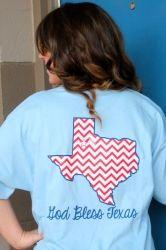 God Bless Texas Chevron T-shirt