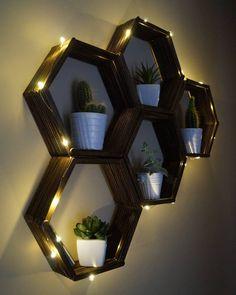 DIY shelves made of popsicle sticks!!