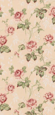 Belle époque Rosa/Röd från Lim & Handtryck
