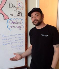 Mark's quote of the day (wow he looks awesome!)