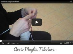 Come avviare maglia tubolare Video Tutorial in italiano Lana, Embroidery, Sewing, Knitting, Crochet, Cards Against Humanity, Youtube, Handmade, Irene