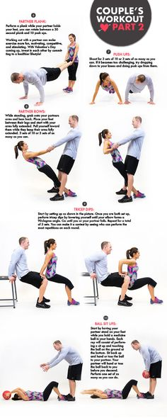 Get fit with your significant other! #idealshape could incorporate baby into the ball sit up