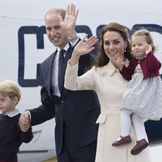 William, Kate, George and Charlotte wave goodbye to Canada at the end of their royal tour