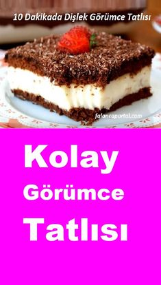 Toothy Görüm Dessert in 10 Minuten - Yummy Snacks, Snack Recipes, Dessert Recipes, Desserts, Cake Recipes, Homemade Sauerkraut, Cauliflower Cheese Bake, Icebox Cake, Iftar