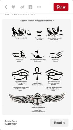 egyptian meanings egyptian symbols and more egyptian tattoo tattoos ...
