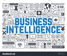 Business Intelligence - Hand drawn vector illustration
