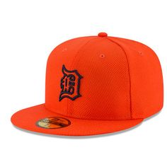 premium selection 67cb2 8b0ab Detroit Tigers New Era Road Diamond Era 59FIFTY Fitted Hat - Orange