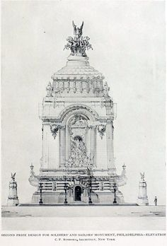 Projected Soldiers and Sailors Monument in 1902, Philadelphia
