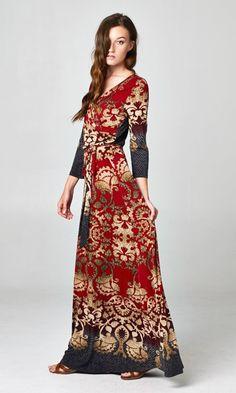 Marcella Dress in Ruby