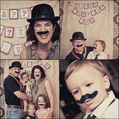 boy's first birthday w/ photobooth