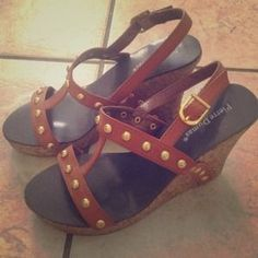 """I just added this to my closet on Poshmark: """"PIERRE DUMAS"""" 8M Wedges!! NEW. Price: $24 Size: 8"""