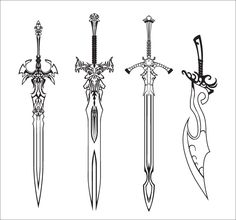 Drawn anime sword - pin to your gallery. Explore what was found for the drawn anime sword Fantasy Sword, Fantasy Weapons, Fantasy Art, Sword Reference, Art Reference, Tattoo Sketches, Drawing Sketches, Sword Tattoo, Sword Design