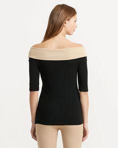 Haut en coton aux épaules dégagées - Voir tout Femmes - Ralph Lauren France
