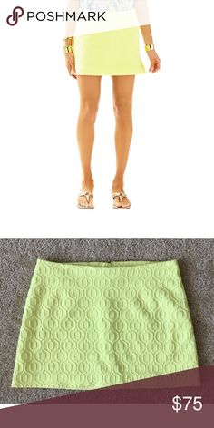 Lilly Pulitzer Tate Knit Skirt Lilly Pulitzer Tate knit jacquard skirt. Limoncello color. Size 10. New without tags. Lilly Pulitzer Skirts Mini