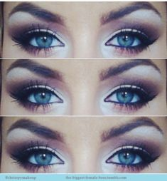 Makeup for blue eyes by lola