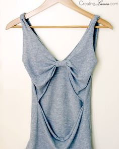 No-sew DIY bow-back tank top tutorial from Creating Laura