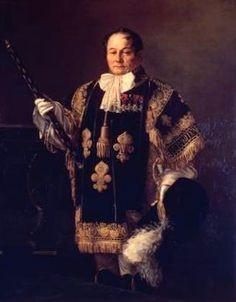 Portrait d'un Héraut d'Armes de France, en tenue pour le sacre de Charles X, en 1825.