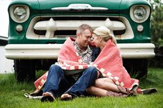 Sweet and vintage-inspired engagement session.