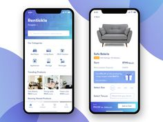 Rentickle app screens - App Templates - Ideas of App Templates - Rentickle app screens by Nitya Gupta Ios App Design, Mobile App Design, Web Design Icon, Android Design, Homepage Design, Mobile App Ui, Home Shopping App, App Home Screen, Hotel Booking App