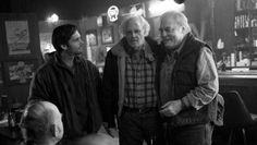 Will Forte, Bruce Dern, and Stacy Keach in 'Nebraska', 2013.
