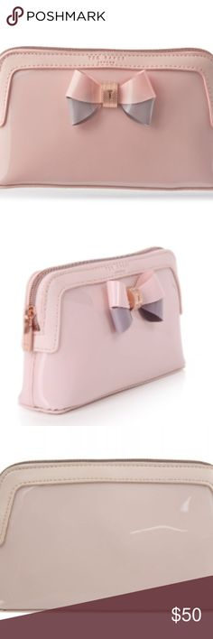 6b548d0e1ac7a TED BAKER WOMEN S ROSAMM COLOURBLOCK BOW WASH BAG TED BAKER WOMEN S ROSAMM  COLOUR BLOCK BOW WASH