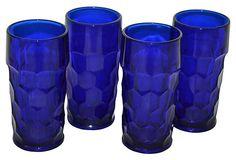 Cobalt Glass Tumblers, Set of 4 on OneKingsLane.com