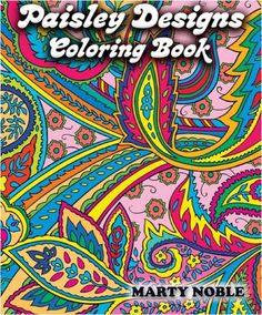 Adults Coloring Book Paisley Color Paperback Edition Design Stress Relief Relax
