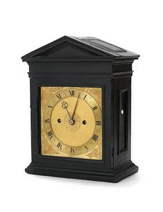 SOLD $641,776 - A VERY RARE THIRD QUARTER OF THE 17TH CENTURY ARCHITECTURAL EBONY TABLE CLOCK. Samuel Knibb, London. Samuel Knibb (1625-c.1670) worked in London for eight of the first twelve years of the pendulum clock. He is a particularly enigmatic figure in the world of antiquarian horology - his known work can be counted on the fingers of one hand. But it is not only the rarity of his work that tantalises, it is also the remarkable similarity of his work to that of his contemporary…