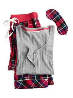The Dreamer Henley Pajama Christmas lorax plaid or blue purple lorax plaid, short length, large or med