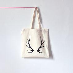 www.oelwein.etsy.com  Oh Deer / Screenprinted tote bag / oelwein