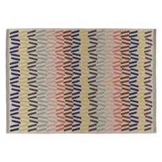 FYFE Medium multi-coloured wool rug 140 x Floor Rugs, Soft Furnishings, Home Living Room, Wool Rug, Habitats, Pattern Design, Weaving, Cushions, Kids Rugs