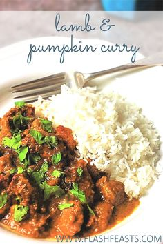 Lamb & pumpkin curry: Grab a pumpkin and treat yourself to this rich, aromatic curry with meltingly tender lamb pieces.
