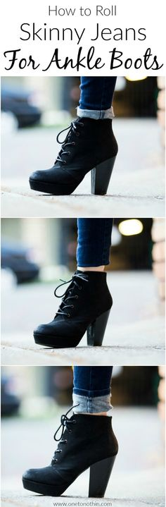 Three Ways to Wear Ankle Boots with Skinny Jeans