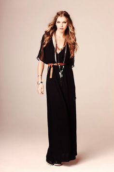 I love this 70's bohemian trend with simple black