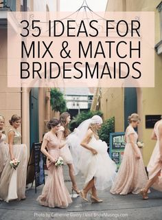 Love this new trend of Mix and Match Bridesmaid Dresses | Bridal Musings Wedding Blog