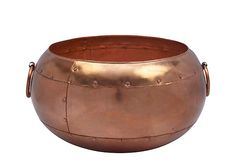 "Boo hoo! Sold out! 17"" Round Planter, Copper Finish on OneKingsLane.com"