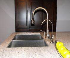 Faucet And Water Dispenser Restoration Filter In Satin Nickel Sink
