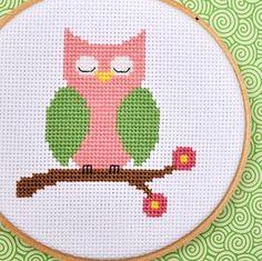 $3.00 owl cross stitch pattern